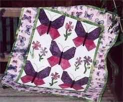 Butterfly Garden Quilt Pattern TPQ-016 (advanced beginner, wall ... & Butterfly Garden Quilt Pattern TPQ-016 Adamdwight.com