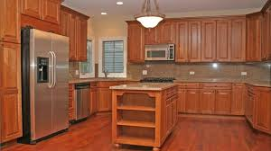 Light Cherry Kitchen Cupboards Team Up With Granite Countertops And