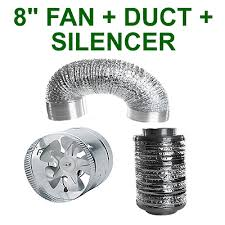 """VENTILATION 8""""/200MM COMBO - EXTRACTOR FAN+ SILENCER ..."""