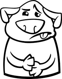 Zieke Hond Cartoon Kleurplaat Vector Premium Download