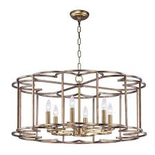 maxim lighting international helix bronze fusion six light chandelier