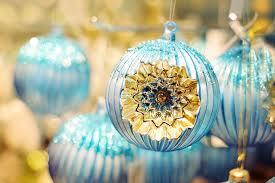 Christbaumschmuck Ornamente Blau Kostenloses Foto Auf Pixabay