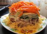 Салат корейский с огурцами и курицей