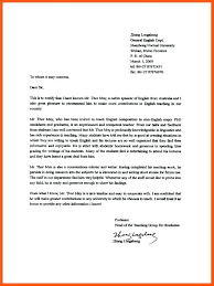 Teacher Recommendation Template College Recommendation Letter Sample From Teacher Of For Scholarship