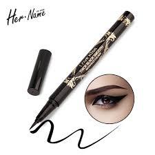 her name black eyeliner waterproof makeup eyes tools liquid eyeliner pen black eye pencil makeup long