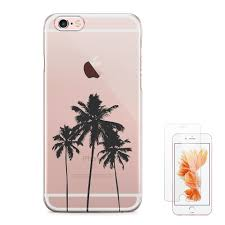 Designer Tempered Glass For Iphone 6 Ucolor California Palm Tree Iphone 6s 6 Crystal Clear Cover