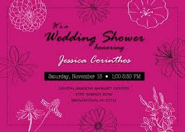 Wedding Shower Invitations Pink Black White Flowers Bridal Shower Invitation