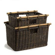 tall storage baskets. Delighful Baskets Tall Narrow Wicker Storage Basket In Antique Walnut Brown 2 Sizes Shown   The  On Baskets I