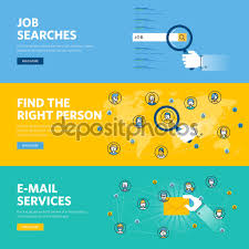 set of flat line design web banners for job searches human set of flat line design web banners for job searches human resources e