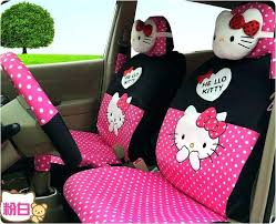 pink and black seat covers hello kitty white polka dot universal auto car seat cover milk