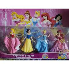 Disney Princess Cake Topper Toy Set