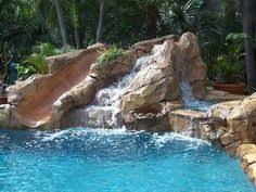 beautiful pools with waterfalls. Simple Pools Swimming Pool Waterfall With Slide On Beautiful Pools With Waterfalls M