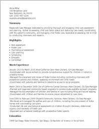Resume Templates: Case Manager