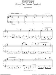 secret garden sheet for piano solo