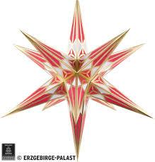 Hartensteiner Weihnachtsstern Für Innen Weiß Weinrot Mit Gold 68 Cm