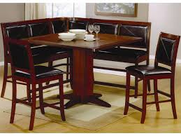 brown counter height pedestal dining table