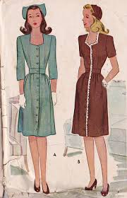 1940s Dress Patterns New Sewing Patterns Women's Dresses 48s