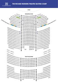 Richard Rogers Seating Chart Richard Rodgers Theatre Large Broadway Seating Charts