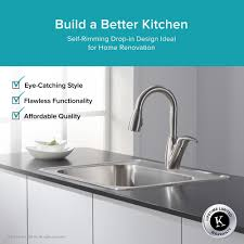 Prevoir Stainless Steel Undermount 1Bowl Kitchen Sink  American 25 Inch Undermount Kitchen Sink