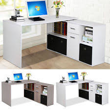 corner desk home office. corner adjustable computer desk table laptop pc work home office furniture