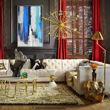 brass is back in a big way as seen here in the wonderful interior by jonathan adler and the brass sputnik chandelier certainly adds to this trendy look