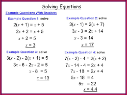 ex q s 2 brackets solving equations 2 x 1 x 5