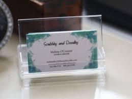 diy desktop business card holder
