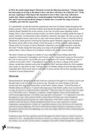geos earth environment and society thinkswap climate change essay