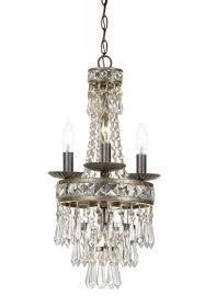 crystorama mercer 4 light english bronze mini chandelier