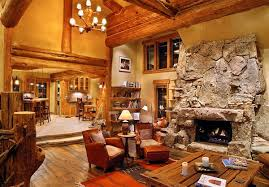 Log Cabin Living Room Enchanting 48 Homey Rustic Living Room Designs Home Design Lover