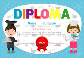 Children Certificate Template Template Of Childrens Diplomas And Certificates Little Chef