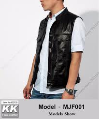 motorcycle club vest faux leather can be customized vest sleeveless jacket men vest