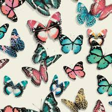 Butterfly Pattern Cool Muriva Flutterby Butterfly Pattern Wallpaper Modern Butterflies