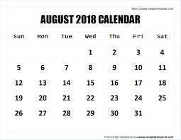 monthly calendar 2018 template august 2018 calendar printable template pdf notes png jpg