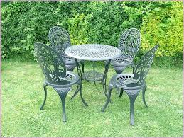 wrought iron outdoor tables best choice of vintage shabby chic white cast garden furniture set table