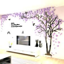 wall art childrens room wall art stickers lovely creative design acrylic beautiful tree and birds pattern