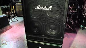 Marshall 4x10 Cabinet Marshall Bass Cabinets Youtube