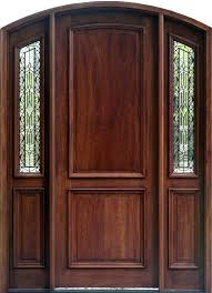mahagony front door exterior mahogany arched doors with arched sidelights and wrought iron glass mahogany solid