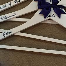 wedding hanger personalised bridal party hangers prom christening