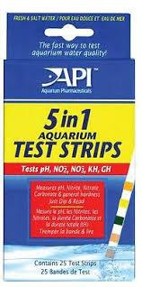 Api 5 In 1 Test Strips Kit Aquarium Ph Nitrate Nitrite Gh Kh