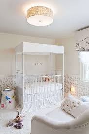 Nursery ceiling lighting Traditional Baby Baby Room With Flush Mount Ceiling Lighting And White Canopy Crib Beautiful Canopy Crib For Wearefound Home Design Baby Room With Flush Mount Ceiling Lighting And White Canopy Crib