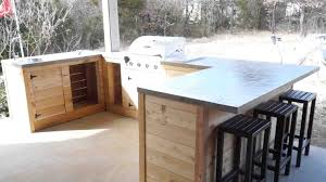 diy build outdoor kitchen around grill modern and bar s ep yourhyoucom photos custom big green