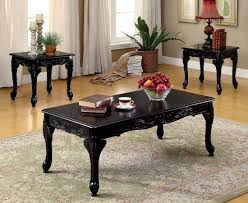 furniture of america cheshire 3 pc set coffee table 2 end tables