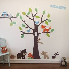Woodland Tree Wall Stickers   Forest friends, Wall sticker and Walls
