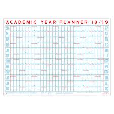 2018 19 Academic Year Planner Wall Calendar By Crispin Finn
