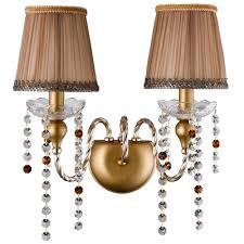 <b>Бра Crystal Lux ALEGRIA</b> AP2 GOLD-BROWN ALEGRIA - купить ...