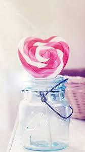 candy cane heart wallpaper. Interesting Cane Heart Candy Cane Glass Jar Valentines Gift Android Wallpaper  With