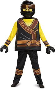 Amazon.com: Disguise Cole Lego Ninjago Movie Deluxe Costume, Yellow/Black,  Large (10-12): Toys & Games