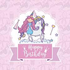 Tarjetas De Cumpleanos De Ninas Tarjeta Del Feliz Cumpleaños Para Niñas Descargar Vectores