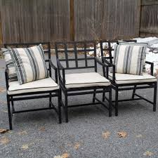 Three Pieces of Wooden Porch Furniture EBTH